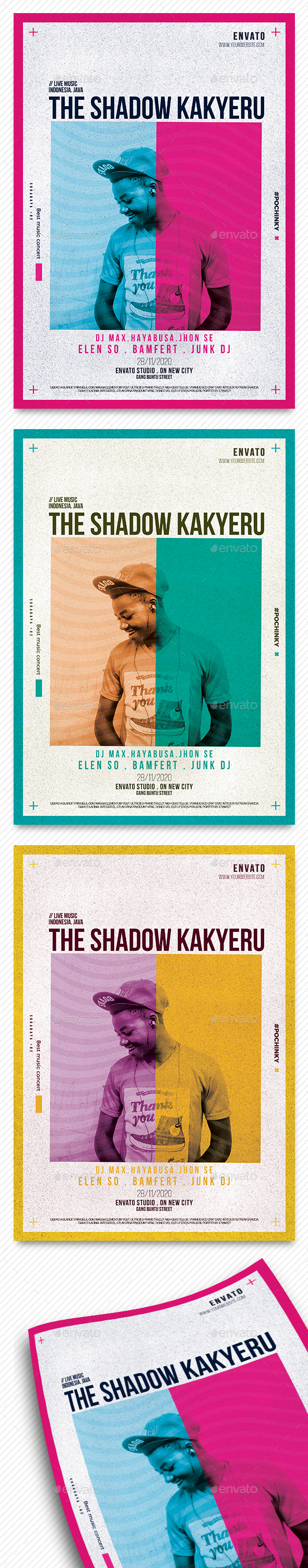 The Shadow Kakyeru Flyer - Concerts Events