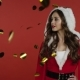 Santa Claus Girl Posing in Studio - VideoHive Item for Sale