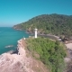 Flying over the Lighthouse on Koh Lanta Island - VideoHive Item for Sale