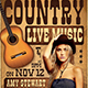 Country Live Flyer Template V4 - GraphicRiver Item for Sale