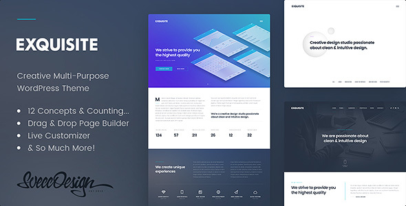 Exquisite - Creative Multi-Purpose WordPress Theme