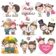 Set of Cartoon Boy and Girl - GraphicRiver Item for Sale