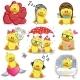 Set of Cartoon Ducks - GraphicRiver Item for Sale