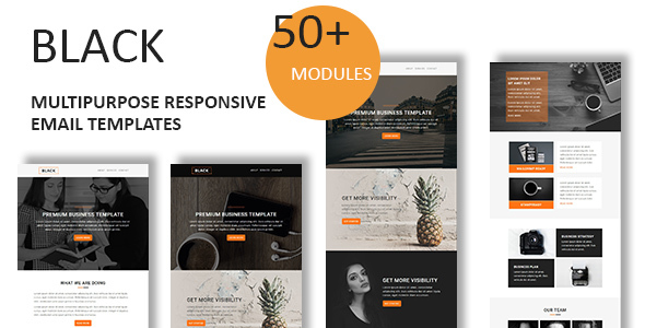Black - Multipurpose Responsive Email Template With Online StampReady Builder Access