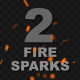 Flying Fire Particles - VideoHive Item for Sale
