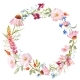 Watercolor Floral Wreath - GraphicRiver Item for Sale