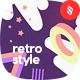 Abstract Seamless Patterns in Retro Style Backgrounds