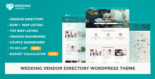 Vendor Directory WordPress Theme | Wedding Vendor - Directory & Listings Corporate