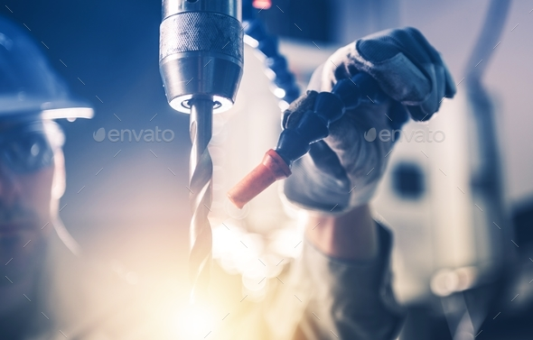 Professional Metal Drilling - Stock Photo - Images