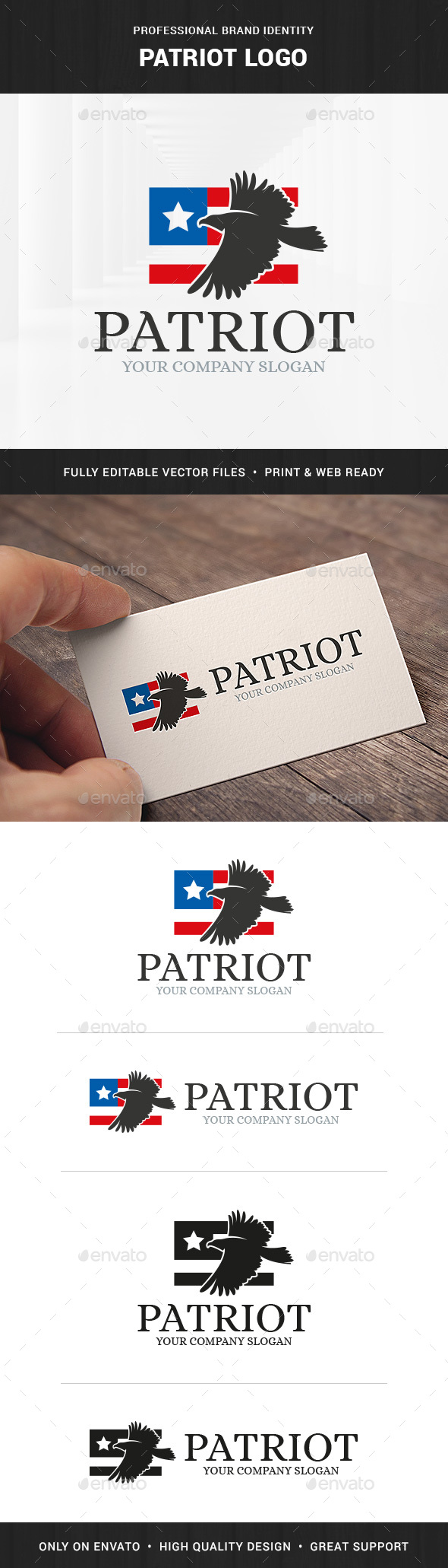 Patriot - American Eagle Logo - Animals Logo Templates