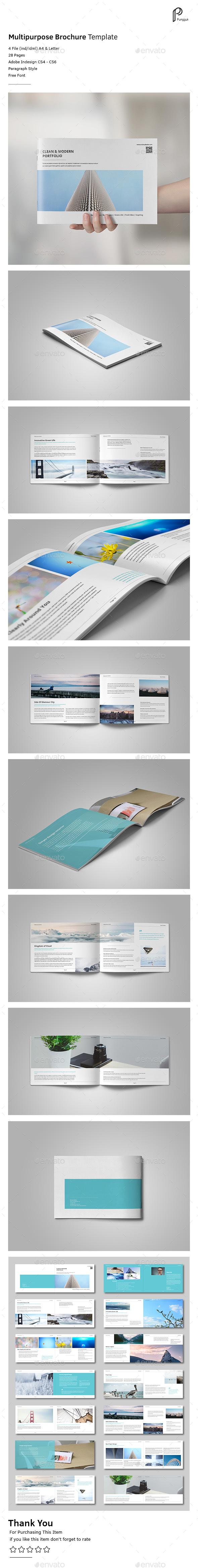 Simple Multipurpose Portfolio Vol.3 (Landscape) - Portfolio Brochures