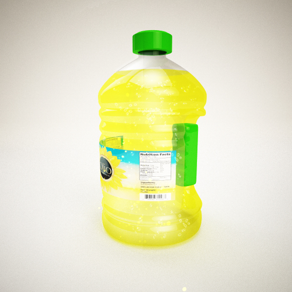 bottle oil - 3DOcean Item for Sale