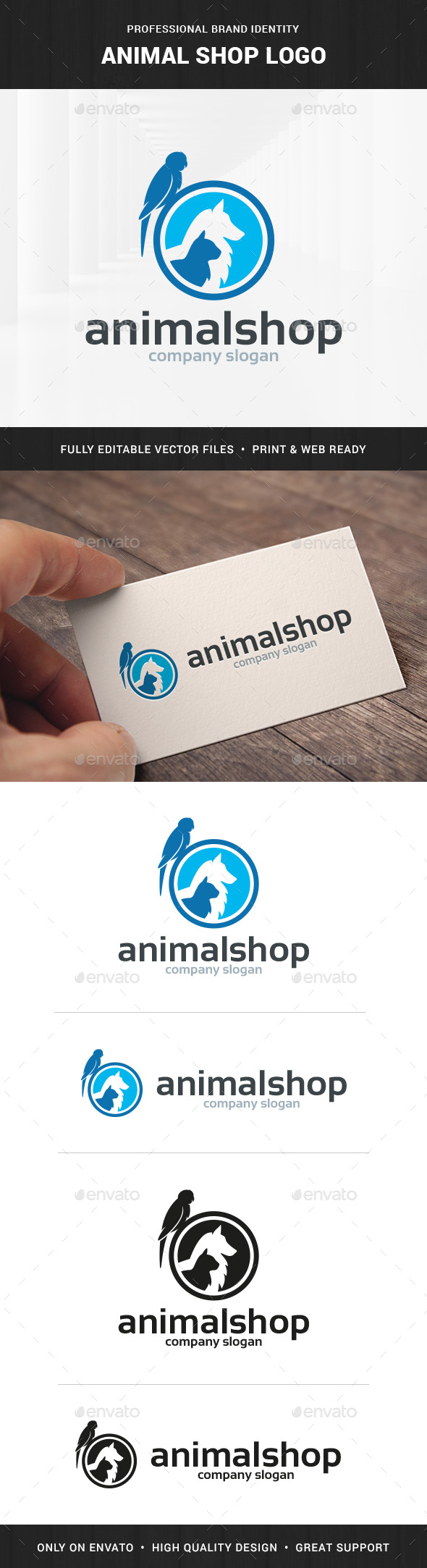 Animal Shop Logo Template - Animals Logo Templates