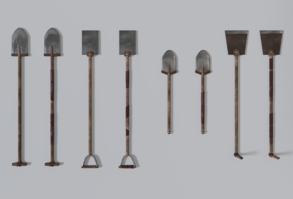 Medieval Shovel Collection - 3DOcean Item for Sale