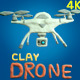 Drone Clay Plasticine Elements 4K - VideoHive Item for Sale