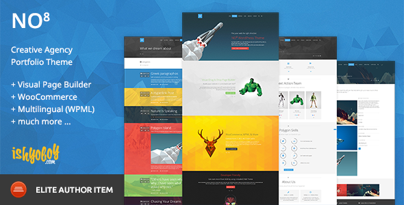 NO8 WP - Creative Agency Portfolio Theme