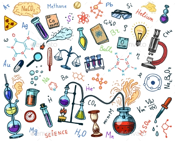 Chemistry Icons Set - Miscellaneous Vectors