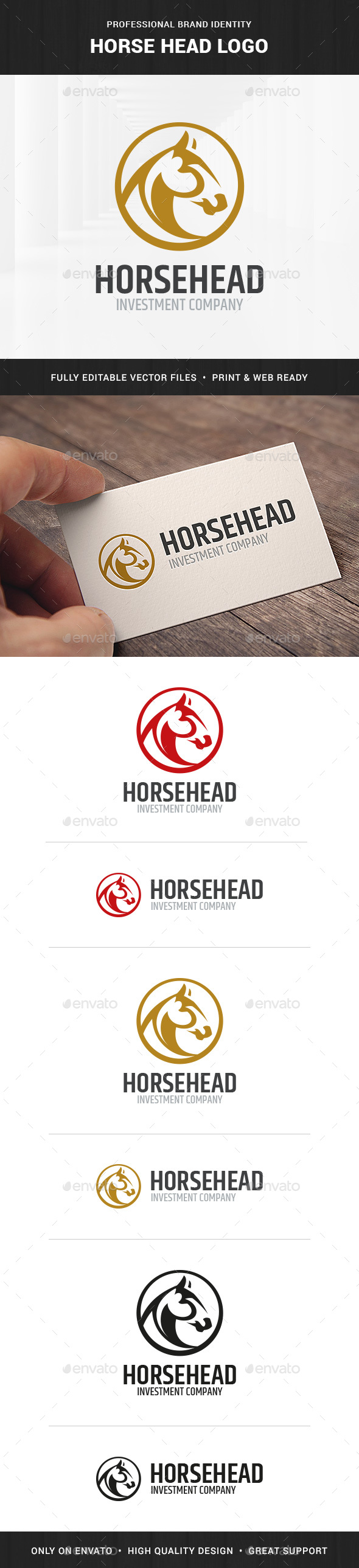 Horse Head Logo Template - Animals Logo Templates