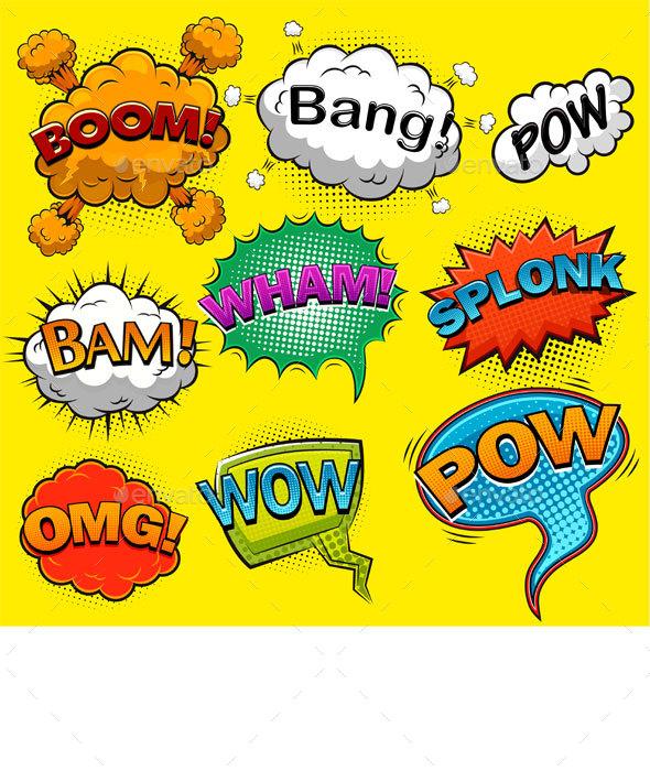 Comic Sound Effects - Decorative Symbols Decorative