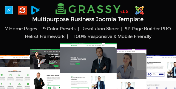 Grassy Business - Business, Corporate and  Finance Joomla Template