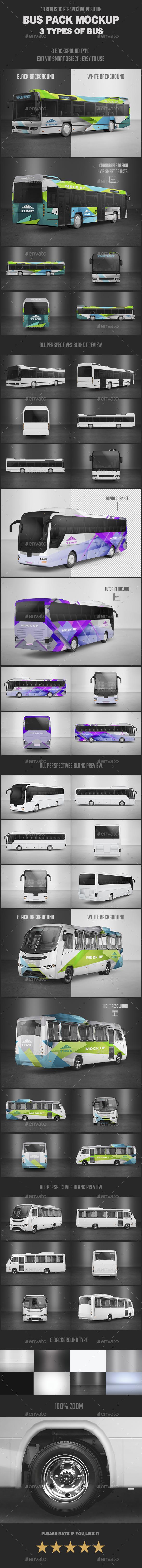Bus Pack Mock-Up - Vehicle Wraps Print