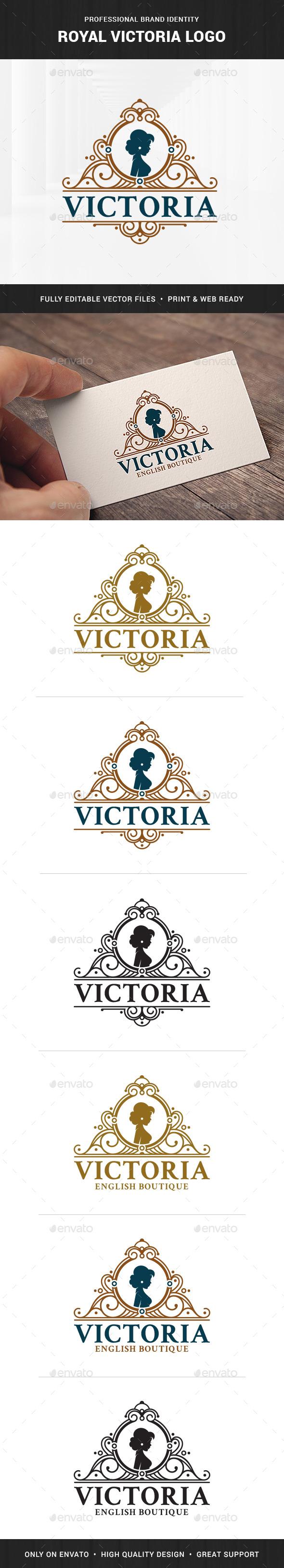 Royal Victoria Logo Template - Crests Logo Templates