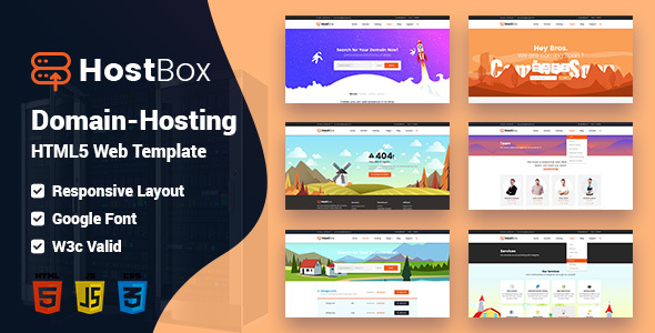 HOSTbox - WHMCS & HTML Responsive Professional Clean and Creative Hosting and multipurpose Template