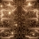 Abstract Loop of Gold Circuit - VideoHive Item for Sale