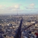 Aerial View of Eiffel Tower in Paris - VideoHive Item for Sale