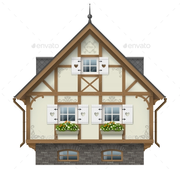 Classic Half Timbered House - Buildings Objects
