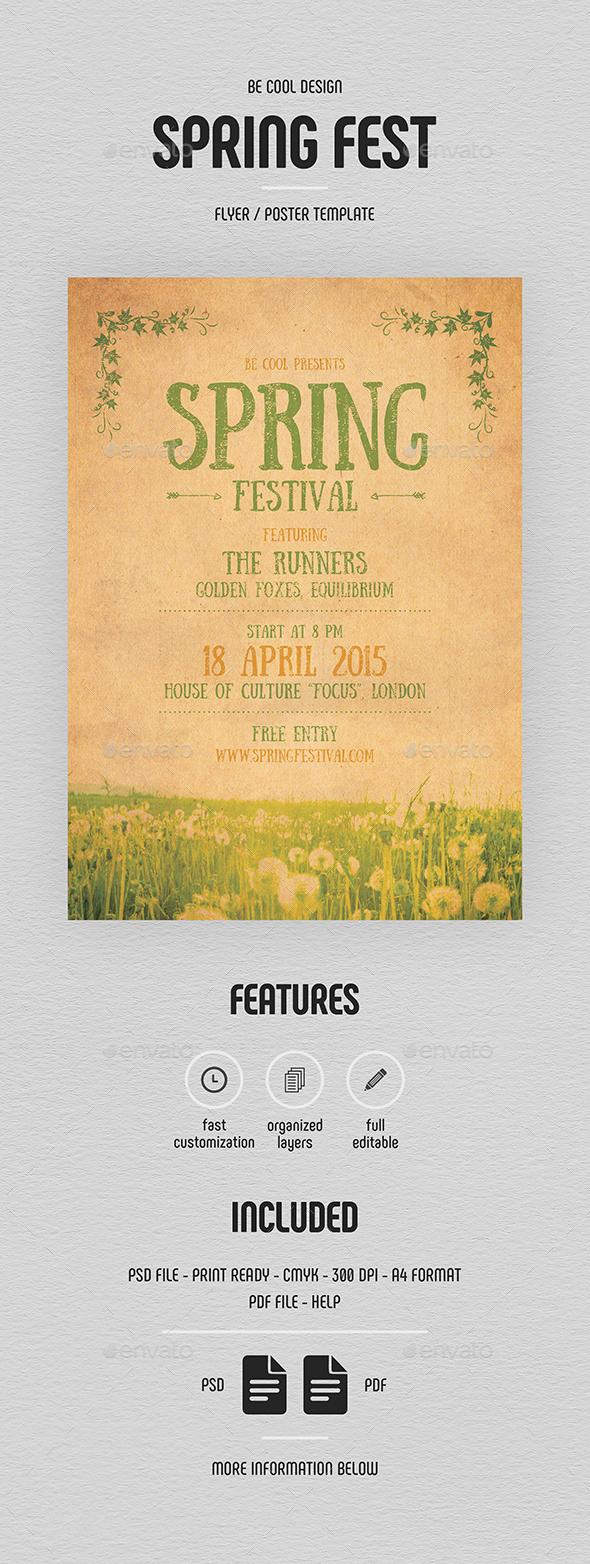 Spring Festival Flyer/Poster - Concerts Events