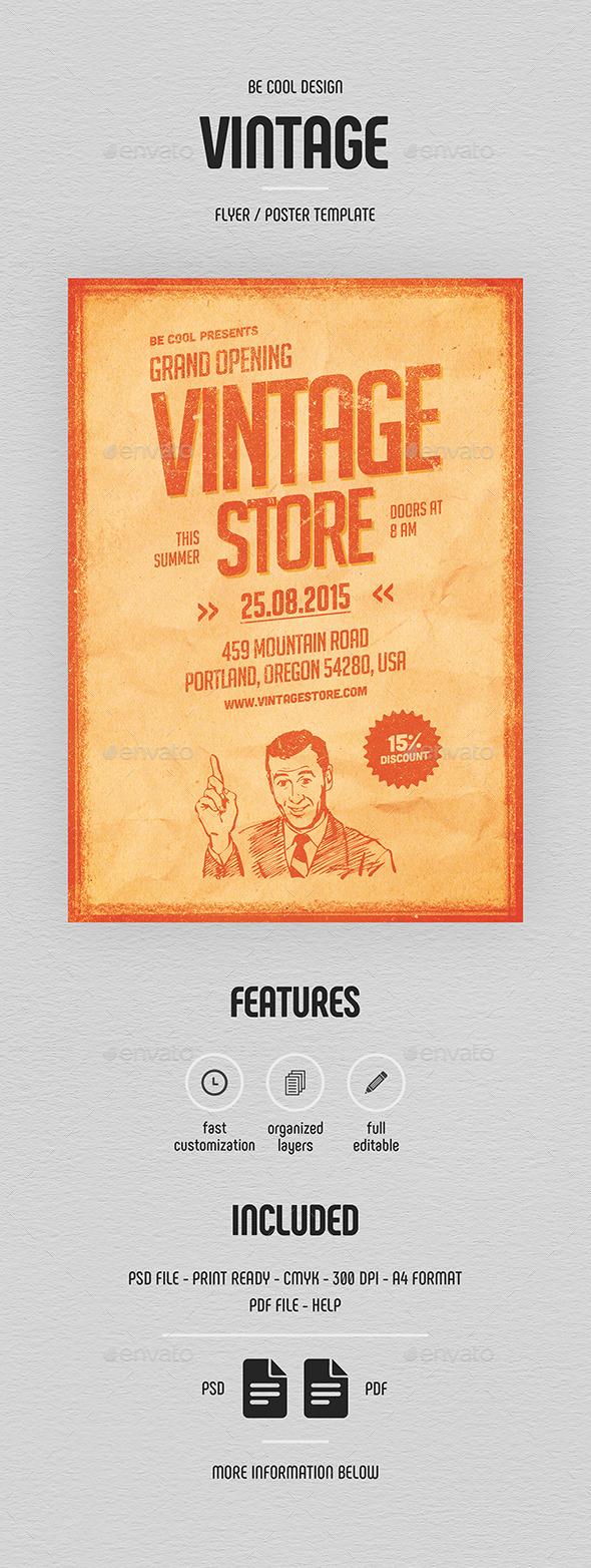 Vintage Store Flyer/Poster - Commerce Flyers