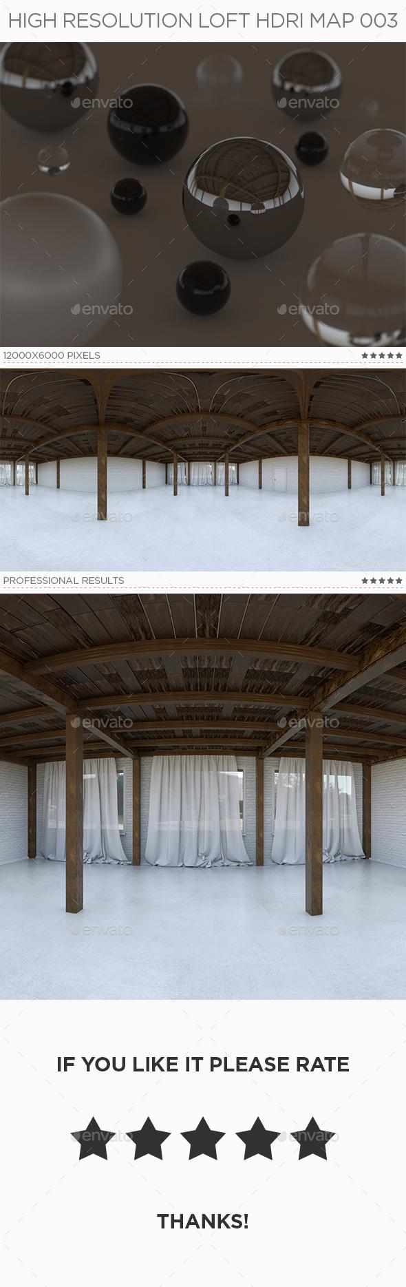 High Resolution Loft HDRi Map 003 - 3DOcean Item for Sale