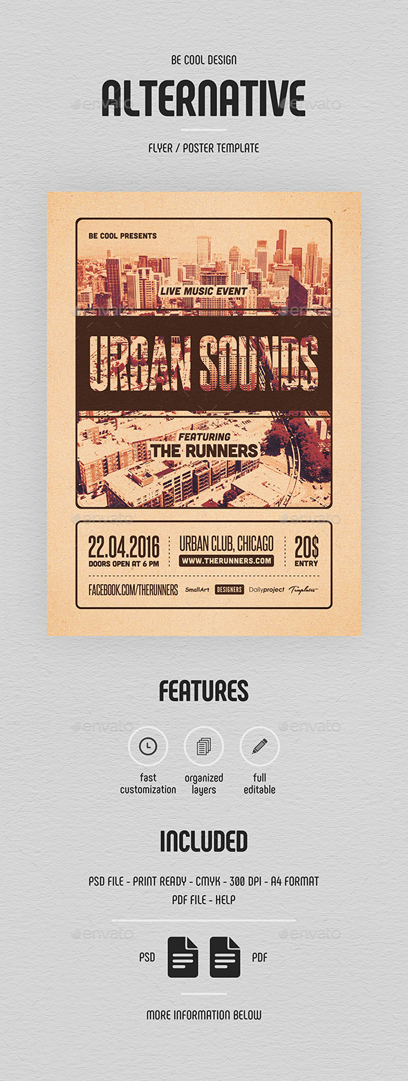 Alternative Flyer/Poster - Concerts Events