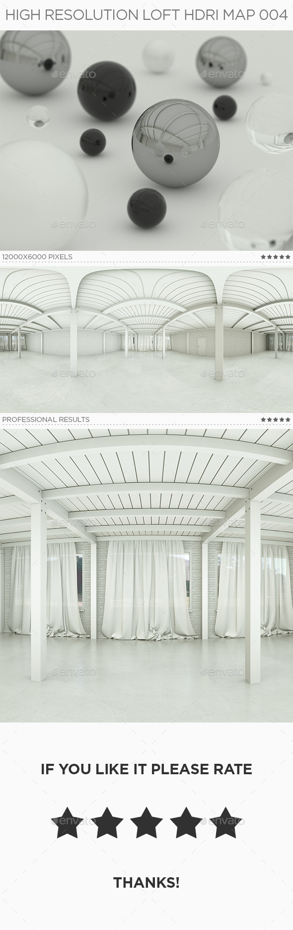 High Resolution Loft HDRi Map 004 - 3DOcean Item for Sale