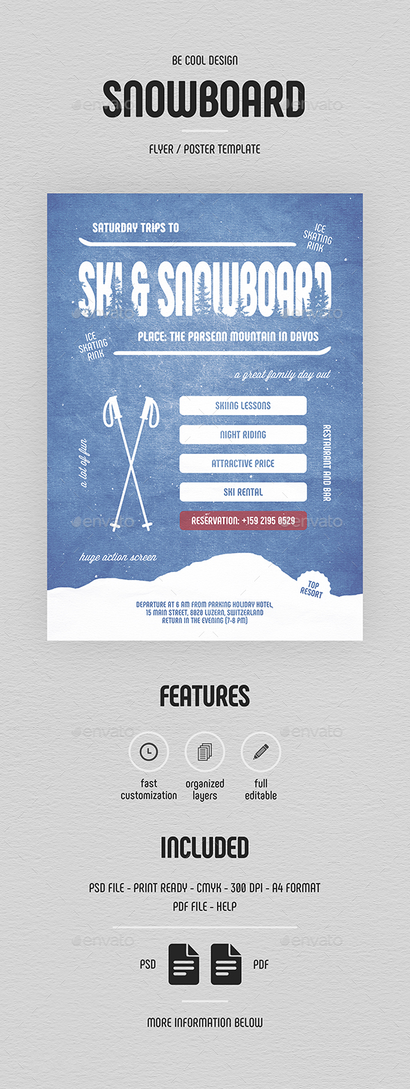 Ski & Snowboard Flyer/Poster - Sports Events