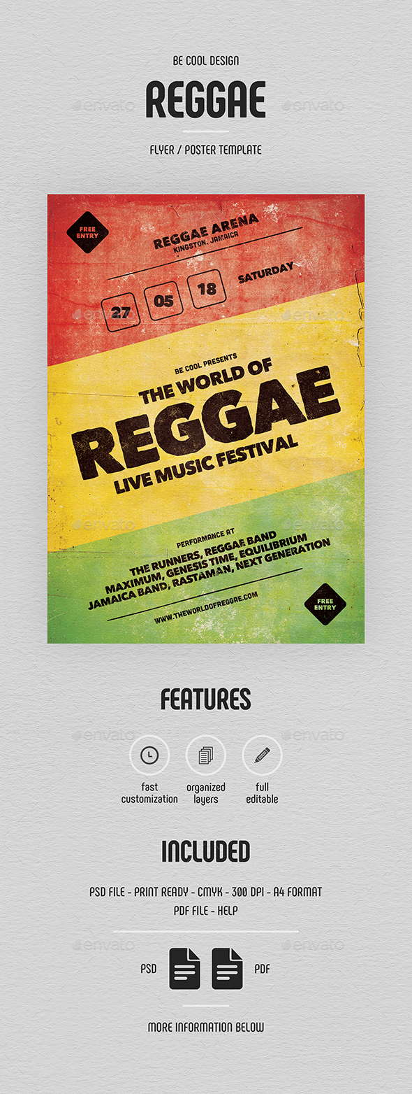 Reggae Flyer/Poster - Concerts Events