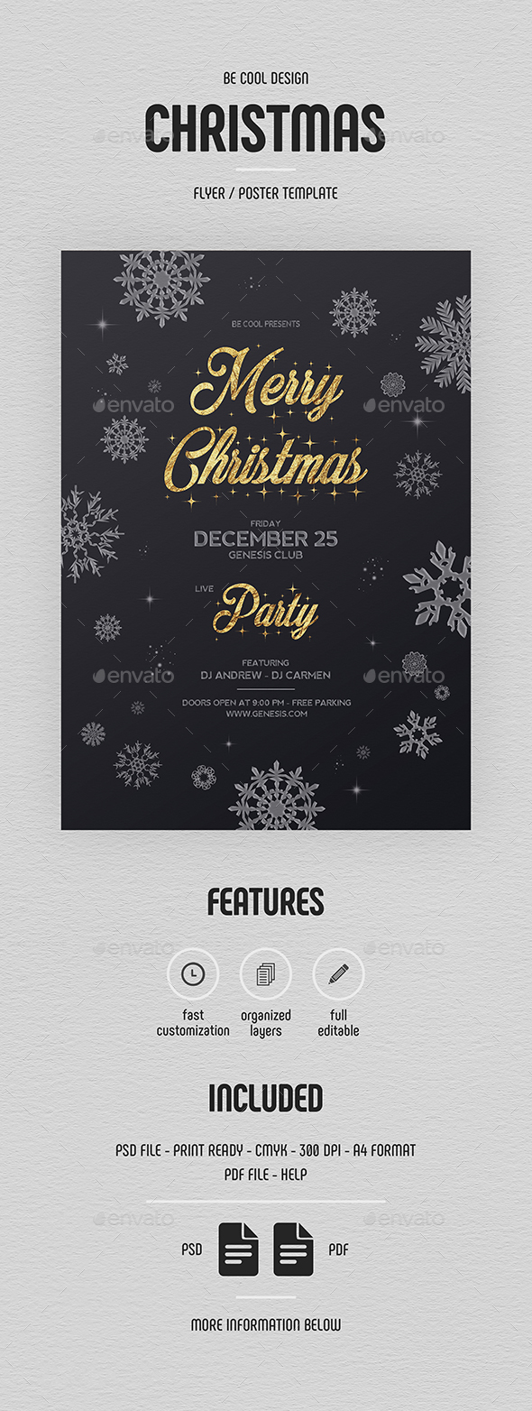Christmas Party Flyer/Poster - Holidays Events