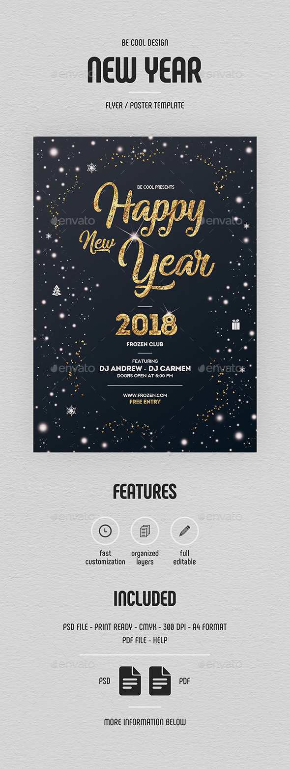 New Year Flyer/Poster - Holidays Events