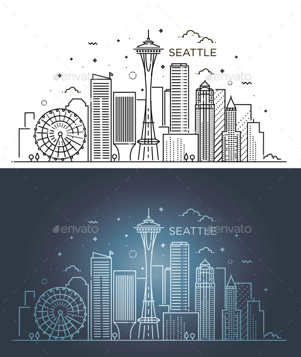 Banner of Seattle - Buildings Objects