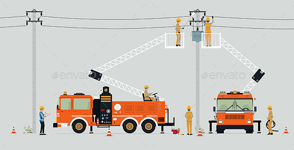 Electric Pole Repair - Services Commercial / Shopping