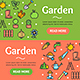 Gardening Banner Set - GraphicRiver Item for Sale