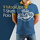 9 Mockups Polo T-Shirts on the Man - GraphicRiver Item for Sale