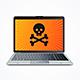 Computer Hack Crash Attack Software Concept