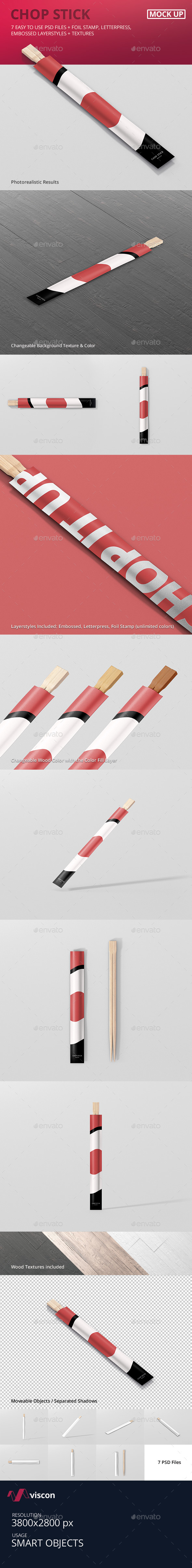 Chopsticks Mockup - Food and Drink Packaging
