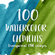 100 Blue and Green Watercolor Texture Shapes - GraphicRiver Item for Sale