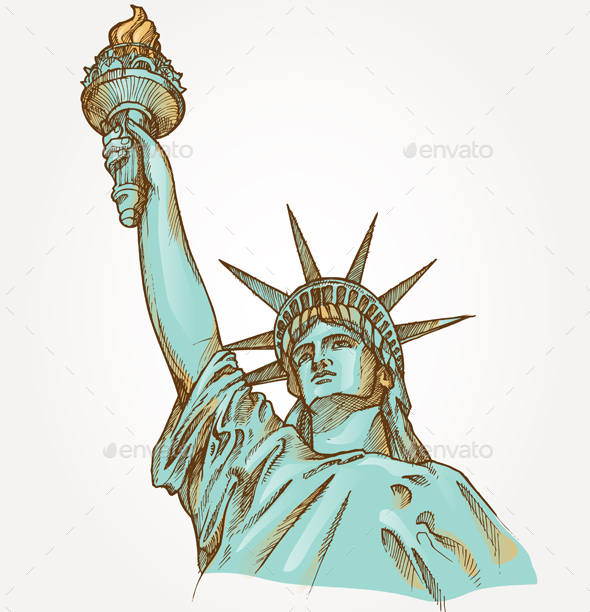 Statue of Liberty - Man-made Objects Objects