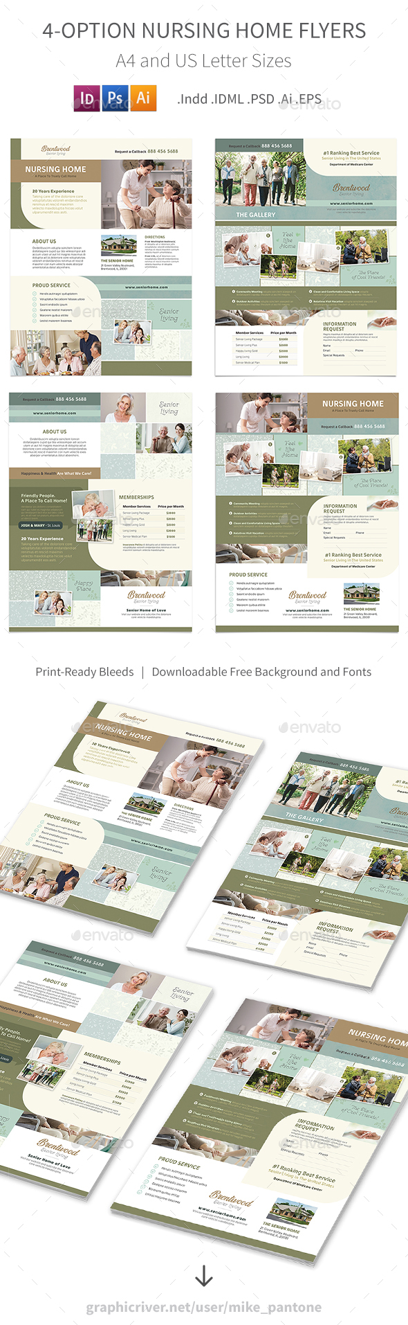 Nursing Home Flyers 2 – 4 Options - Corporate Flyers