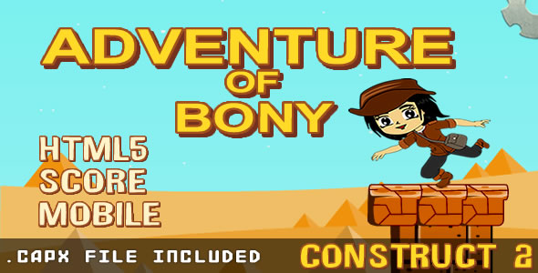 Adventure of Bony (.capx & html) Game. - CodeCanyon Item for Sale
