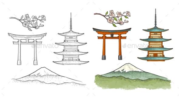 Mountain Fuji in Japan - Miscellaneous Vectors